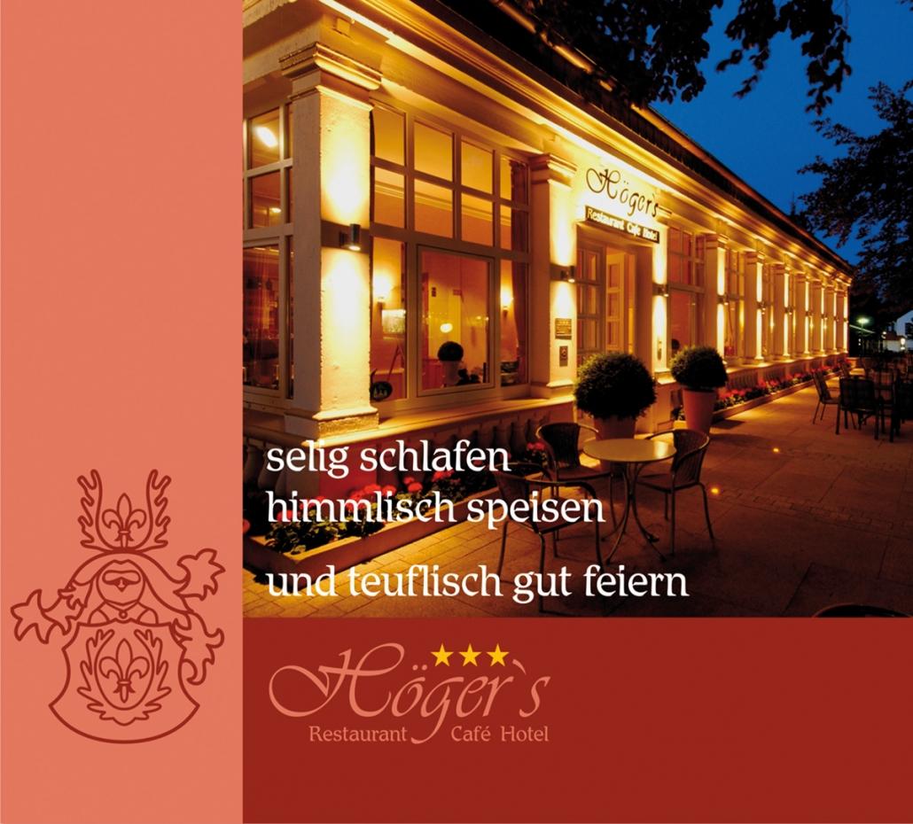 Titelbild Flyer Höger´s Hiotel und Restaurant