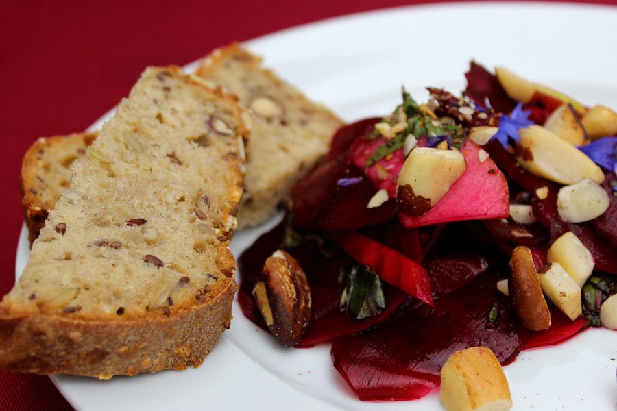 Salatteller auf der Culinaria