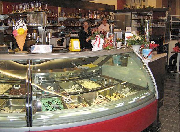 Eistheke des Eiscafé ITALIA Bad Essen