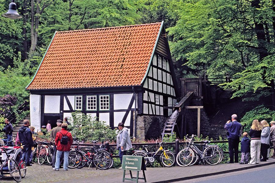 """Aussenansicht """"Alte Wassermühle"""" an der Bergstraße"""