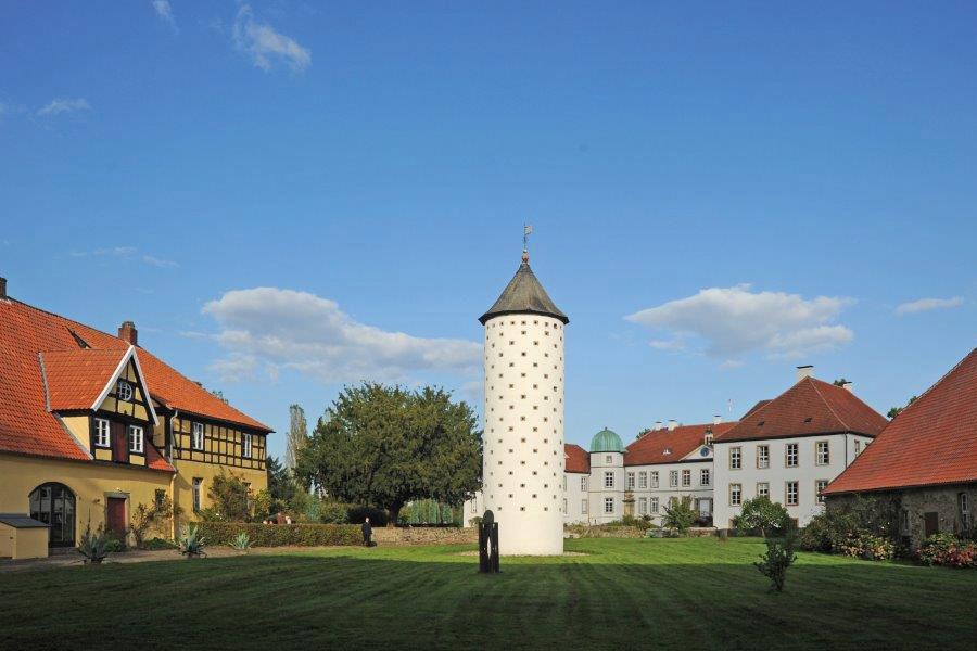 Blick auf den alten Taubenturm Bed & Breakfast Alte Rentei