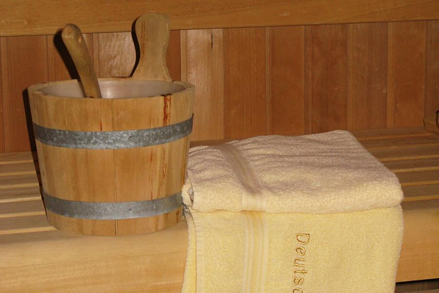 Innenansicht Sauna Haus Deutsch Krone