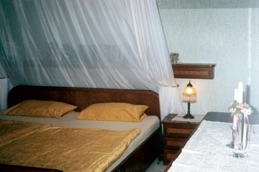 Innenansicht Schlafzimmer Pension Forellenhof