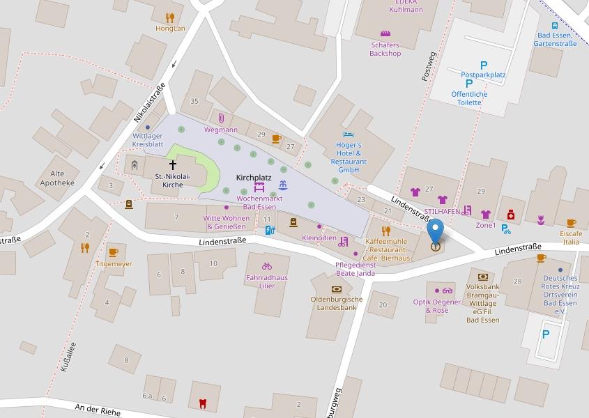 Voransicht der Karte von Bad Essen, Open Street Map