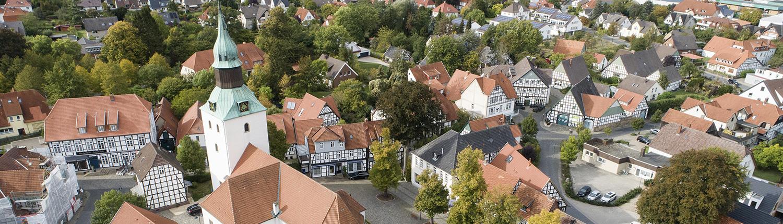 Luftbild vom Kirchplatz Bad Essen