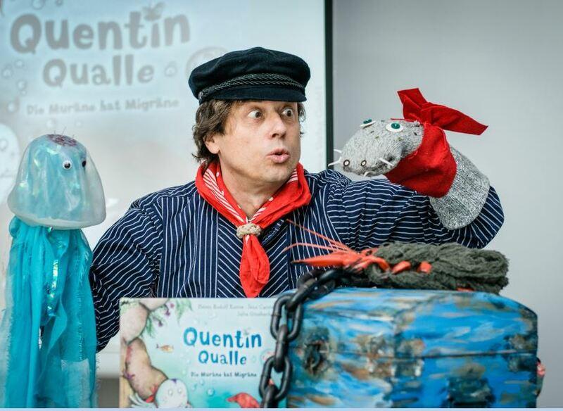 Michael Hain mit Quentin Qualle