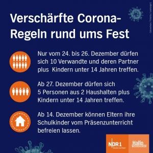 Verschärfte Corona-Regeln des Landes Niedersachsen