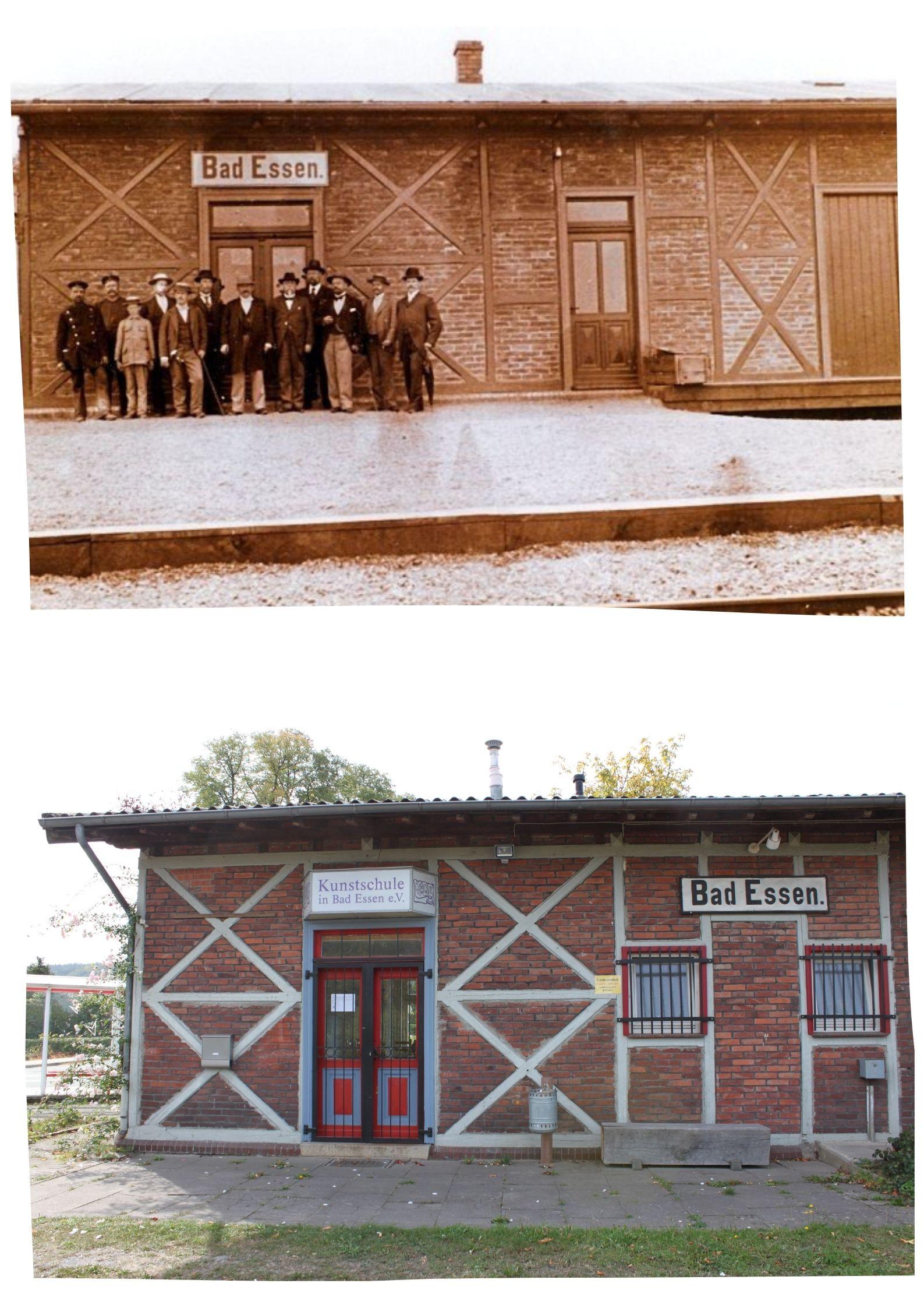 Collage Alter Bahnhof Bad Essen