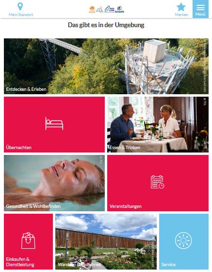 App im Detail mit verschiedenen Bildern